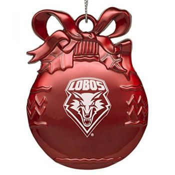 University of New Mexico - Pewter Christmas Tree Ornament - Red