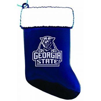 Georgia State University - Christmas Holiday Stocking Ornament - Blue