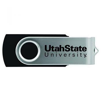 Utah State University -8GB 2.0 USB Flash Drive-Black