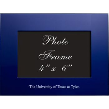 University of Texas at Tyler - 4x6 Brushed Metal Picture Frame - Blue