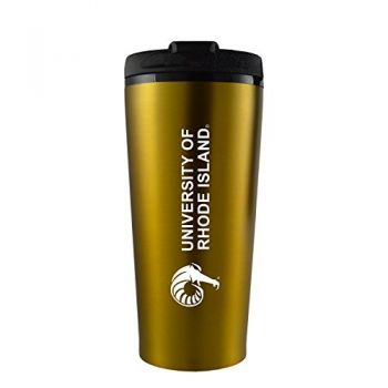 The University of Rhode Island -16 oz. Travel Mug Tumbler-Gold