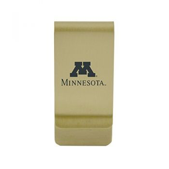 Michigan State University|Money Clip with Contemporary Metals Finish|Solid Brass|High Tension Clip to Securely Hold Cash, Cards and ID's|Silver