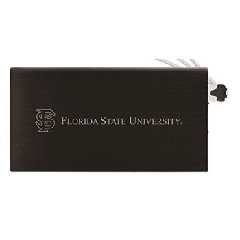 8000 mAh Portable Cell Phone Charger-Florida State University -Black
