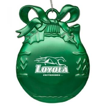 Loyola University Maryland - Pewter Christmas Tree Ornament - Green