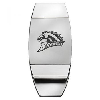 Western Michigan University - Two-Toned Money Clip - Silver