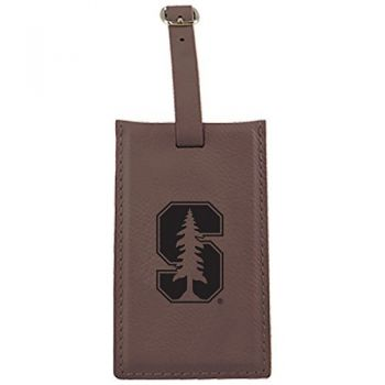 Stanford University -Leatherette Luggage Tag-Brown