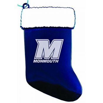 Monmouth University - Christmas Holiday Stocking Ornament - Blue
