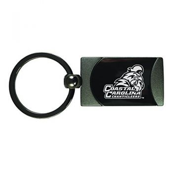 Coastal Carolina University -Two-Toned Gun Metal Key Tag-Gunmetal