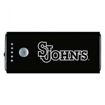 St. John's University -Portable Cell Phone 5200 mAh Power Bank Charger -Black