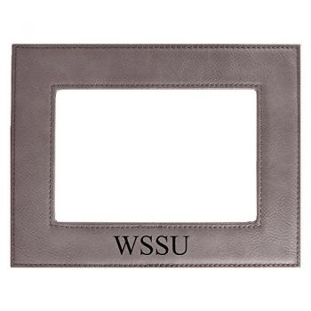 Winston-Salem State University-Velour Picture Frame 4x6-Grey