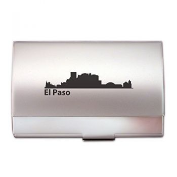 Business Card Holder Case - El Paso City Skyline
