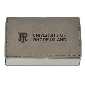 Velour Business Cardholder-The University of Rhode Island-Grey