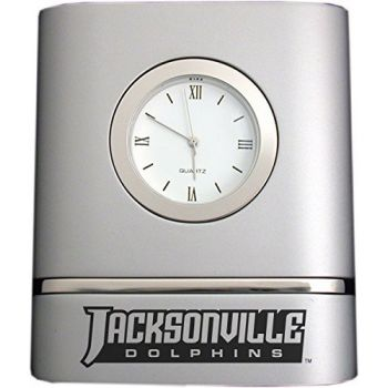 Jacksonville University- Two-Toned Desk Clock -Silver