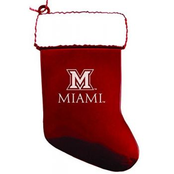 Miami University - Chirstmas Holiday Stocking Ornament - Red