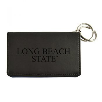 Velour ID Holder-Long Beach State University-Black