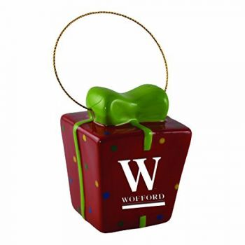 Wofford College-3D Ceramic Gift Box Ornament