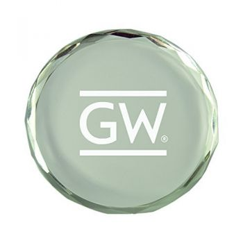 George Washington University-Crystal Paper Weight
