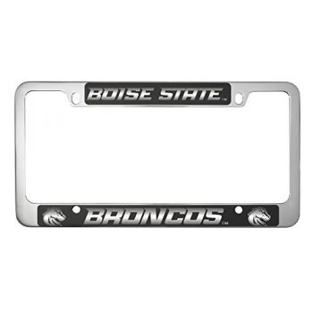 Boise State University -Metal License Plate Frame-Black