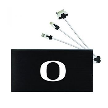 8000 mAh Portable Cell Phone Charger-University of Oregon -Black