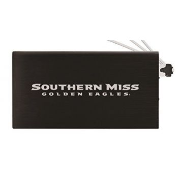 8000 mAh Portable Cell Phone Charger-University of Southern Mississippi-Black