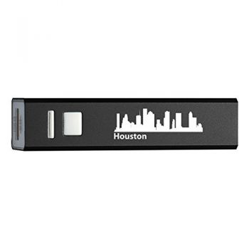 Houston, Texas-Portable 2600 mAh Cell Phone Charger-BLK