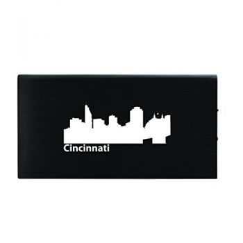 Quick Charge Portable Power Bank 8000 mAh - Cincinnati City Skyline