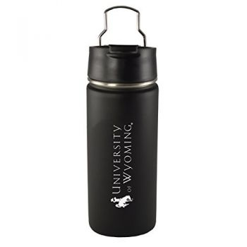 University of Wyoming -20 oz. Travel Tumbler-Black