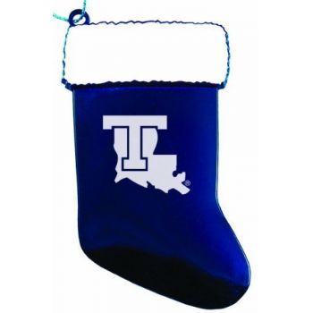 Louisiana Tech University - Chirstmas Holiday Stocking Ornament - Blue