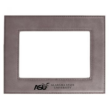 Alabama State University-Velour Picture Frame 4x6-Grey