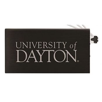 8000 mAh Portable Cell Phone Charger-University of Dayton -Black