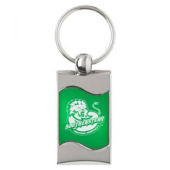 Southeastern Louisiana University - Wave Key tag - Green