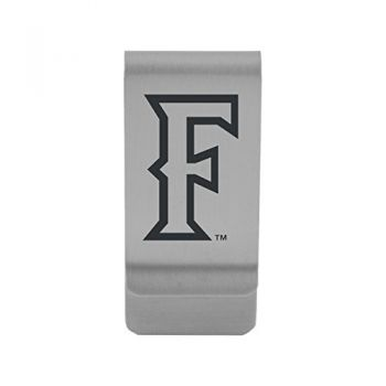California State Univeristy Fullerton |Money Clip with Contemporary Metals Finish|Solid Brass|High Tension Clip to Securely Hold Cash, Cards and ID's|Gold