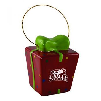 La Salle State University-3D Ceramic Gift Box Ornament