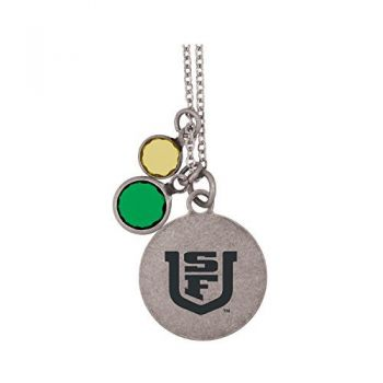 University of San Francisco-Frankie Tyler by LXG Charmed Necklace