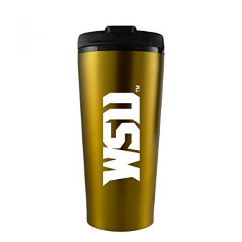 Wright State university -16 oz. Travel Mug Tumbler-Gold