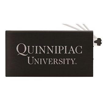 8000 mAh Portable Cell Phone Charger-Quinnipiac University -Black