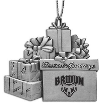 Brown University - Pewter Gift Package Ornament