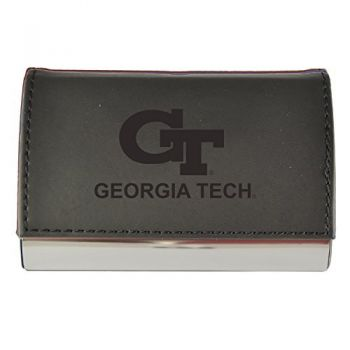 Velour Business Cardholder-Georgia Institute of Technology-Black