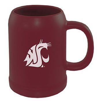 Washington State University -22 oz. Ceramic Stein Coffee Mug-Burgundy