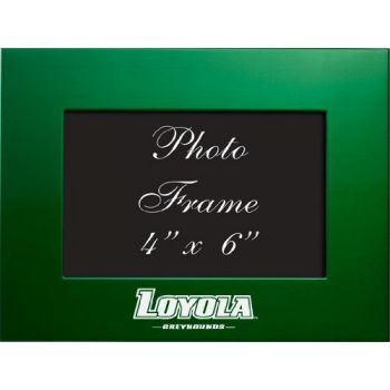 Loyola University Maryland - 4x6 Brushed Metal Picture Frame - Green