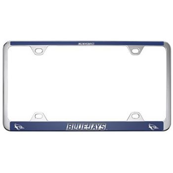 Creighton University -Metal License Plate Frame-Blue