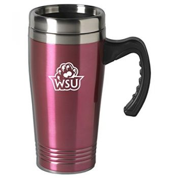 Weber State University-16 oz. Stainless Steel Mug-Pink