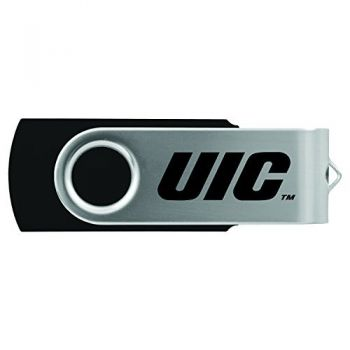 University of Illinois at Chicago-8GB 2.0 USB Flash Drive-Black