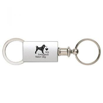 Detachable Valet Keychain Fob  - I Love My Portuguese Water Dog