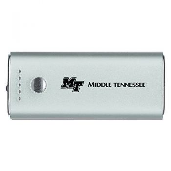Middle Tennessee State University -Portable Cell Phone 5200 mAh Power Bank Charger -Silver
