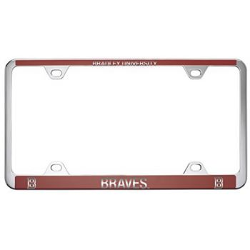 Bradley University -Metal License Plate Frame-Red