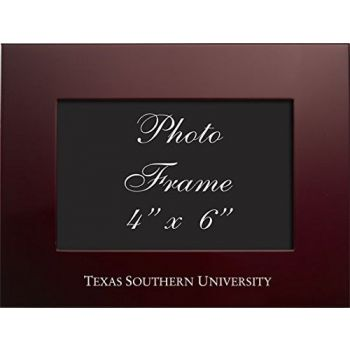 Texas Southern University - 4x6 Brushed Metal Picture Frame - Burgundy