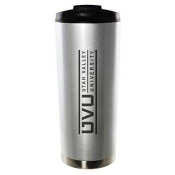 Utah Valley University-16oz. Stainless Steel Vacuum Insulated Travel Mug Tumbler-Silver