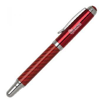 St. John's University - Carbon Fiber Rollerball Pen - Red