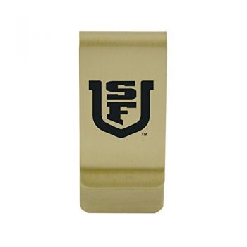 Sam Houston State University|Money Clip with Contemporary Metals Finish|Solid Brass|High Tension Clip to Securely Hold Cash, Cards and ID's|Silver